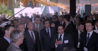 Emin Iskenderov, Valdimir Poutine et Francois Fillon